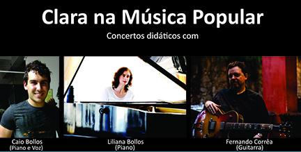 Concertos didáticos em São Sebastião da Grama e Vargem Grande do Sul - Projeto Clara na Música Popular